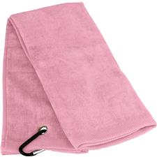 Tri-Fold Personalized Golf Towel - Pink