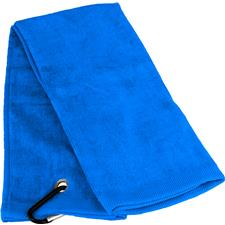 Tri-Fold Personalized Golf Towel - Coastal Blue