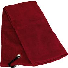 Tri-Fold Personalized Golf Towel - Red