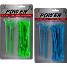 Zero Friction Power 3-Prong 4 Inch Tees - 18 Pack