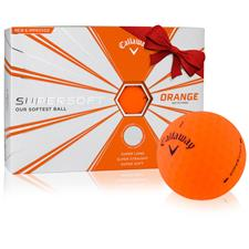 Callaway Golf Supersoft Matte Orange Personalized Golf Balls