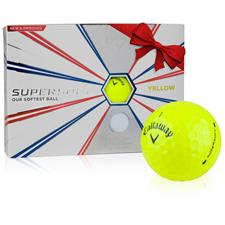 Callaway Golf Supersoft Yellow Personalized Golf Balls