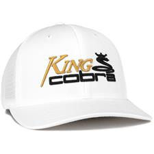 Cobra Men's King Cobra Trucker Snapback Hat - White