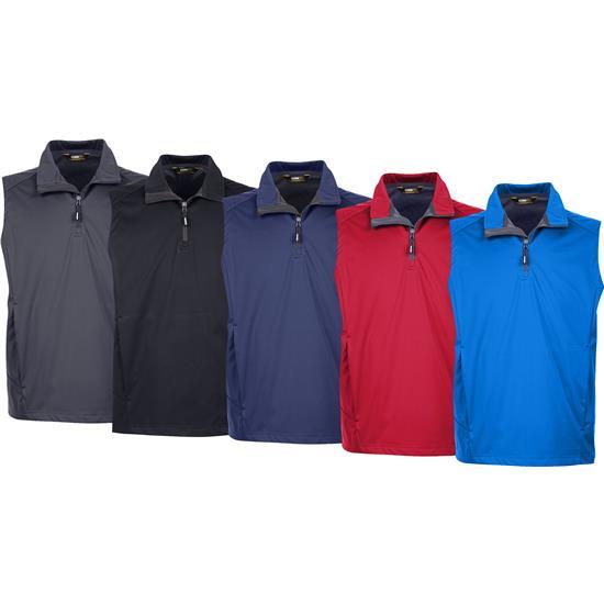 Core Basic Men's Techno Lite Knit Tech-Shell Quarter-Zip Vest