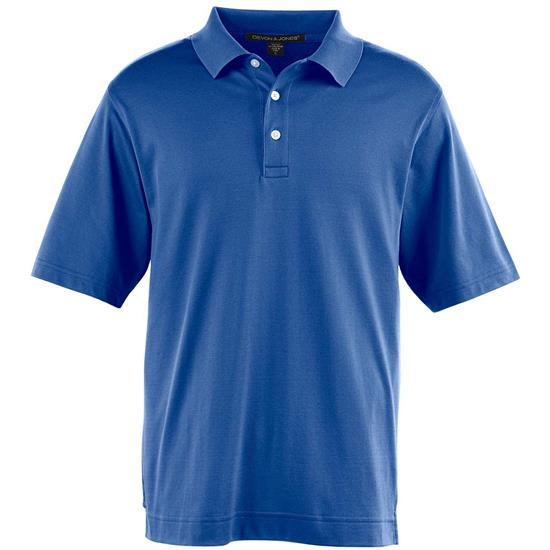 Devon & Jones Men's Jet Pique Polo