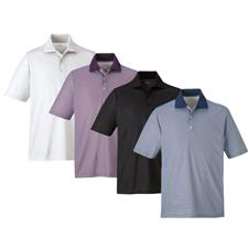 Extreme Custom Logo Launch Snag Protection Striped Polo