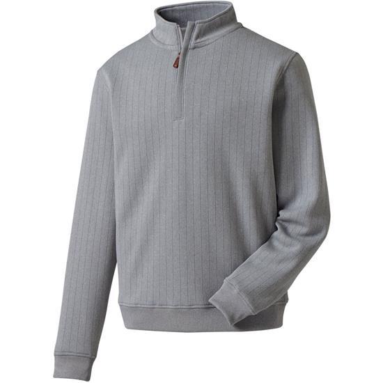 FootJoy Men's Drop Needle Half-Zip Pullover with Gathered Waist