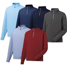 FootJoy Men's Lightweight Striped 1/2 Zip Pullover