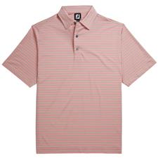 FootJoy Men's Prev. Season Lisle Mini Stripe Self Collar Polo