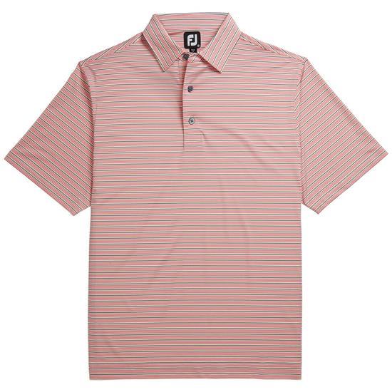 FootJoy Men's Prev. Season Lisle Mini Stripe Self Collar Polo