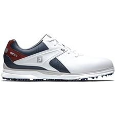 FootJoy White-Navy-Maroon Pro/SL Golf Shoes