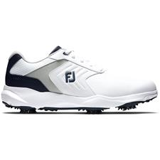 FootJoy White-Grey-Navy eComfort Golf Shoes