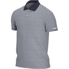 Nike College Navy-White Dri-Fit Victory Stripe Polo