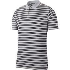 Nike Sky Grey-Obsidian-White-White Dri-Fit Victory Stripe Polo