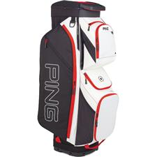 PING Traverse Cart Personalized Bag - White-Black-Scarlet