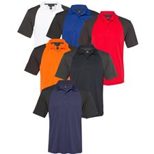 Prim + Preux Custom Logo Energy Color Block Polo