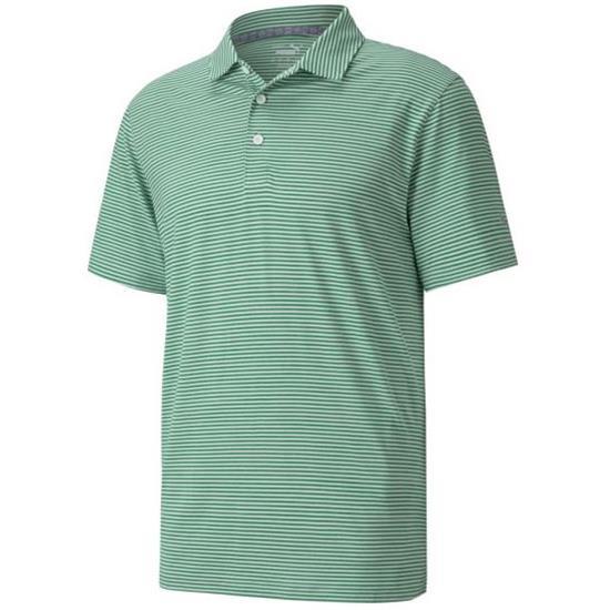 Puma Men's Cloudspun Caddie Stripe Golf Polo