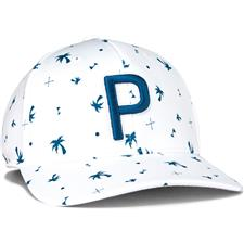 Puma Men's Palms Pattern 110 P Snapback Hat - Digi Blue-Bright White