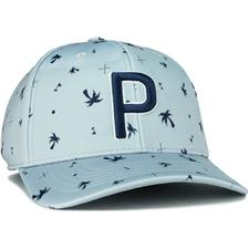 Puma Men's Palms Pattern 110 P Snapback Hat - Peacoat-Quarry