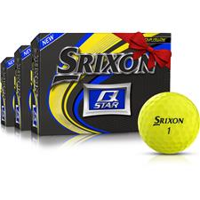Srixon Q-Star Yellow Golf Balls - Buy 2 DZ Get 1 DZ Free