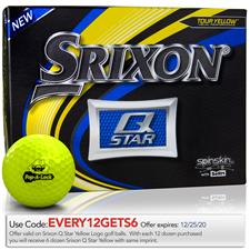 Srixon Custom Logo Q-Star Yellow Golf Balls