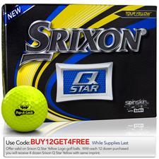 Srixon Q-Star Yellow Custom Logo Golf Balls