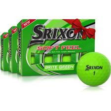 Srixon Soft Feel 2 Brite Green Golf Balls - Buy 2 Get 1