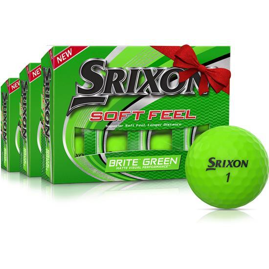 Srixon Soft Feel 2 Brite Green Golf Balls - Buy 2 Get 1