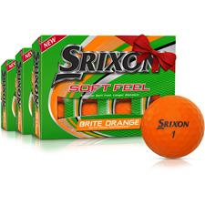 Srixon Soft Feel 2 Brite Orange Golf Balls - Buy 2 Get 1