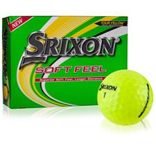 Srixon Soft Feel Yellow 12 Personalized Golf Balls