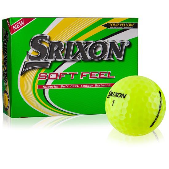 Srixon Soft Feel Yellow 12 Personalized Golf Balls