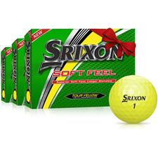 Srixon Soft Feel Yellow Monogram Golf Balls - Buy 2 Get 1 Free