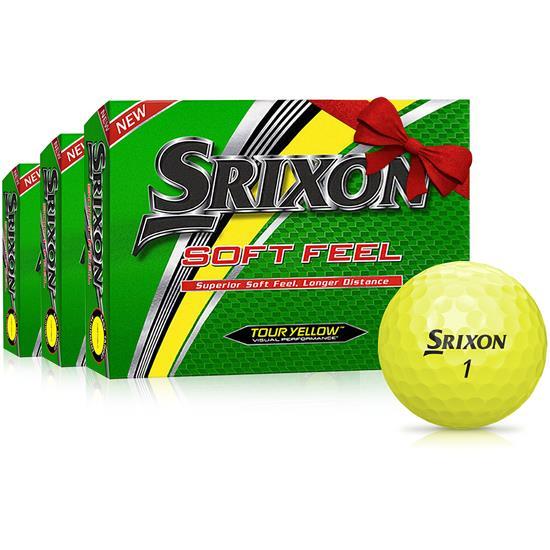 Srixon Soft Feel Yellow Golf Balls - Buy 2 Get 1 Free