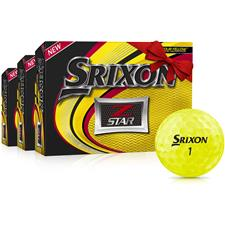 Srixon Z Star Yellow Personalized Golf Balls - Buy 2 DZ Get 1 DZ Free