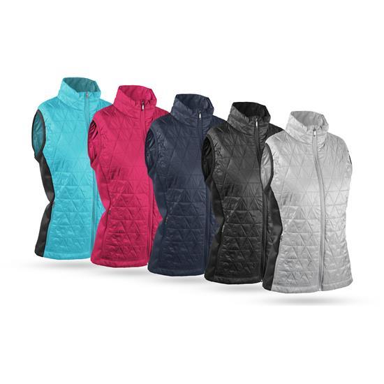 Sun Mountain AT Hybrid Full-Zip Vest for Women - 2021 Model