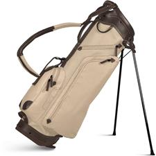 Sun Mountain Canvas/Leather Stand Bag - Natural-Brown