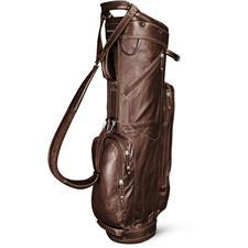 Sun Mountain Leather Cart Bag - Brown-Khaki