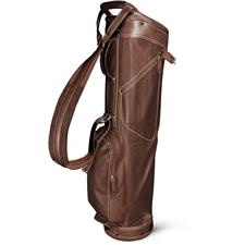 Sun Mountain Leather Sunday Bag - Brown-Khaki