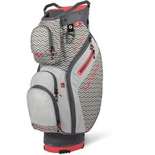 Sun Mountain Starlet Cart Bag for Women - Gunmetal-Ripple-Coral