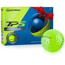 Taylor Made TP5 Yellow Custom Logo Golf Balls