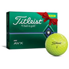 Titleist AVX Yellow Monogram Golf Balls