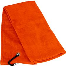 Tri-Fold Personalized Golf Towel - Orange
