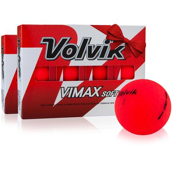 Volvik VIMAX Soft Matte Red Golf Balls - Double Dozen
