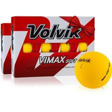 Volvik VIMAX Soft Matte Yellow Golf Balls - Double Dozen