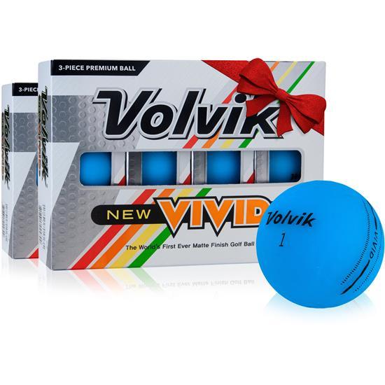 Volvik Vivid Matte Blue Golf Balls - Double Dozen