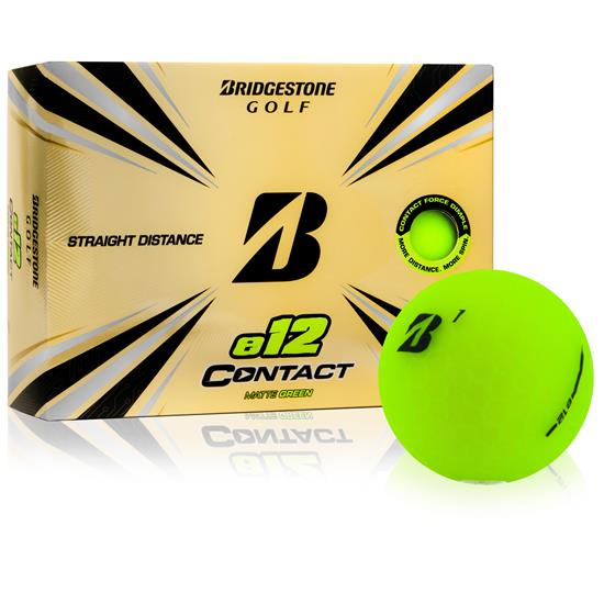 Bridgestone e12 Contact Matte Green Golf Balls - 2021 Model