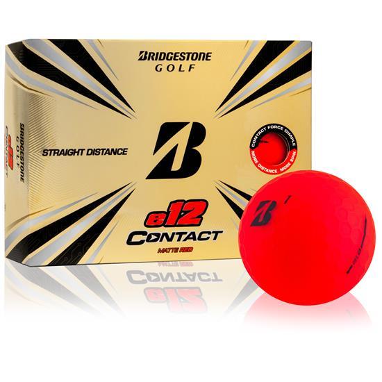 Bridgestone e12 Contact Matte Red Personalized Golf Balls