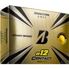 Bridgestone e12 Contact Matte Yellow Personalized Golf Balls