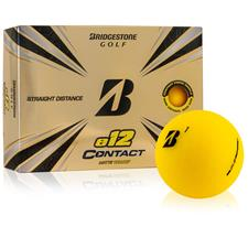 Bridgestone Custom Logo e12 Contact Matte Yellow Golf Balls - 2021 Model