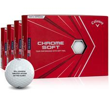 Callaway Golf Chrome Soft Personalized Golf Balls - Buy 3 DZ Get 1 DZ Free